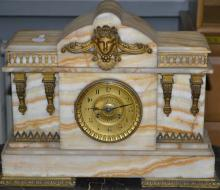 Stowell Victorian Marble Mantle Clock