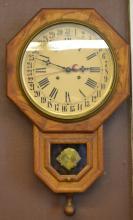 Thirty- One Day Oak Wall Clock