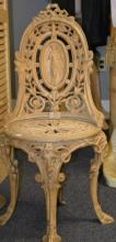 Iron Chair with Female Nude Decoration