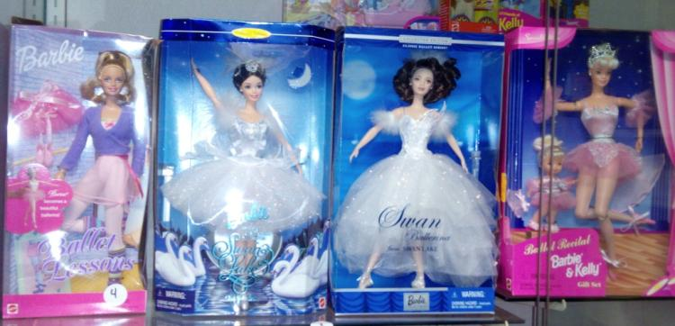 Collection of Ballet Barbies