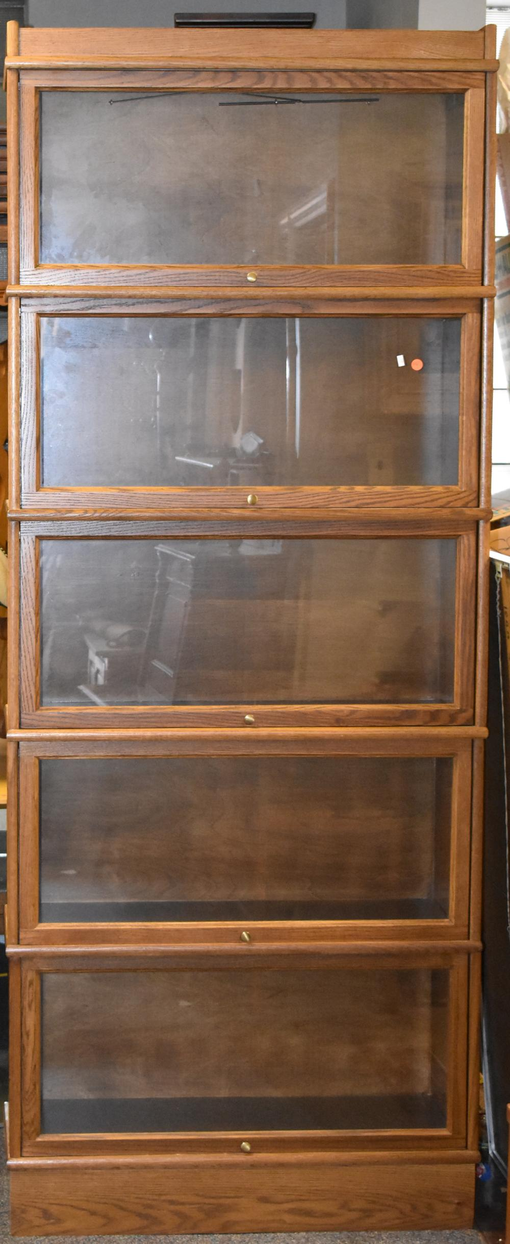 Hale Oak 5 Section Barrister Bookcase