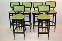 Six Empire State Chair Co. Stools c. 1950's