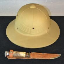1940s Safari Hat & German K-Bar Style Knife