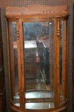 Oak Bow Front China Cabinet c. 1940