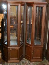 Pair of Curio Cabinets