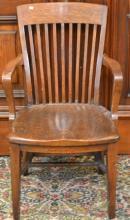 Wooden Desk Chair c.1900