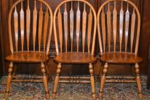 Three Windsor Style Side Chairs
