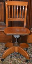 Early Desk Chair on Casters