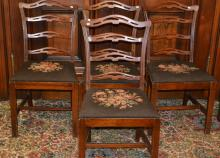 Set Of Four Antique Style Side Chairs