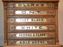 6 Drawer Oak Clark's Spool Cabinet