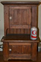 19th/Early 20th C Miniature Step Back Cupboard