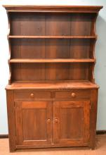 19th C Two Piece Cupboard
