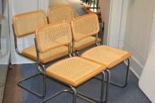 Four Wicker Kitchen Chairs