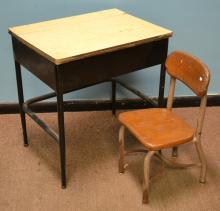 Mid Century Era Child's Desk and Chair