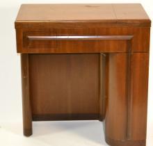 Art Nouveau Sewing Machine in Cabinet