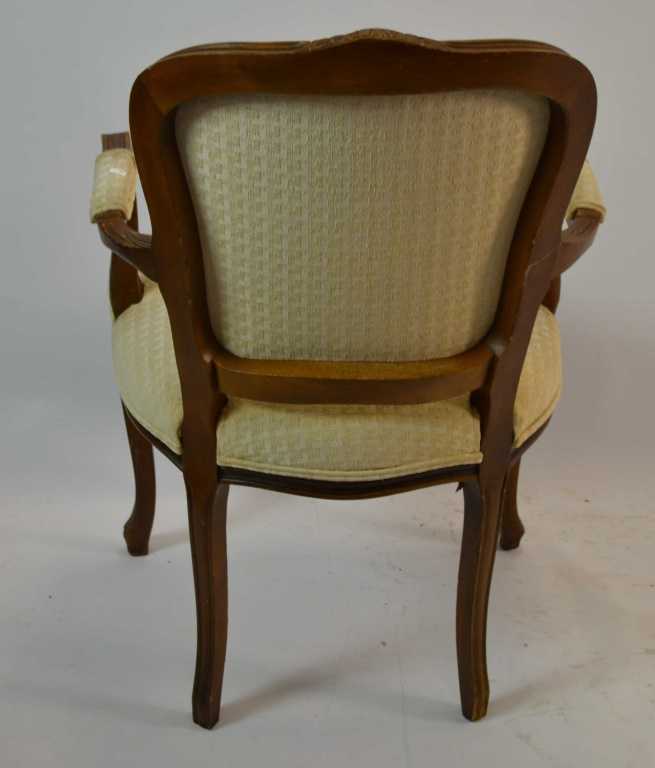 Three victorian style arm chairs
