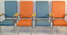 4 Mid Century Modern Mental Health Hospital Chairs