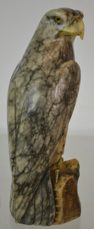 Carved Stone Glass : Carved stone eagle glass eyes