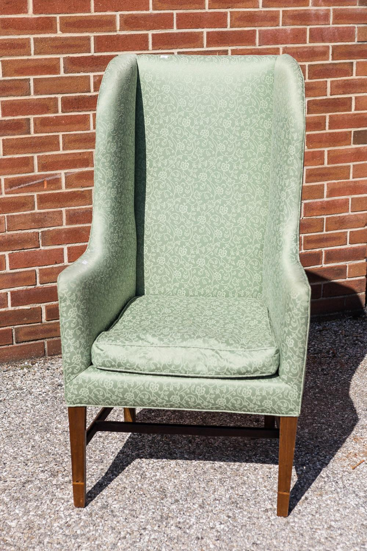Hepplewhite Period Wingback Chair