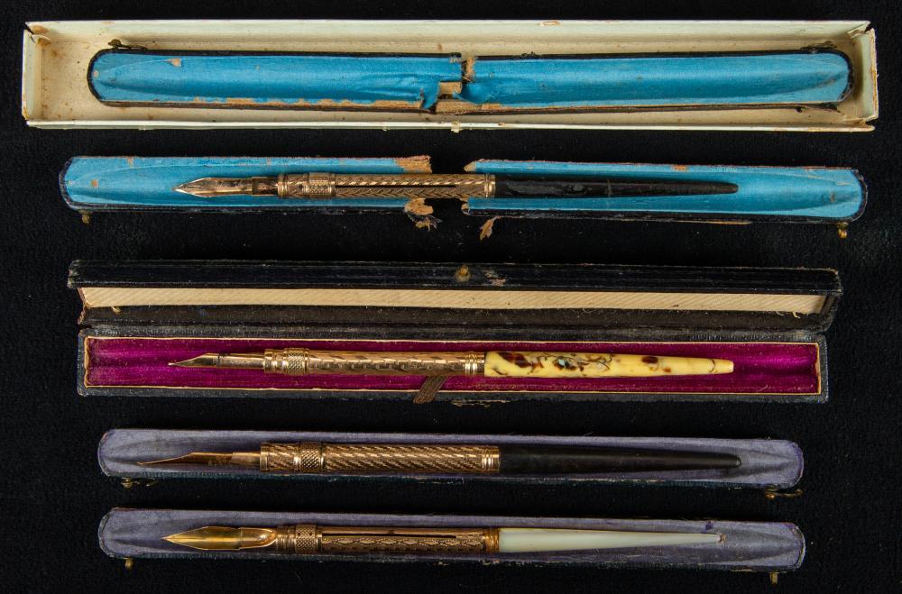 Antique Victorian Fountain Pens (4)