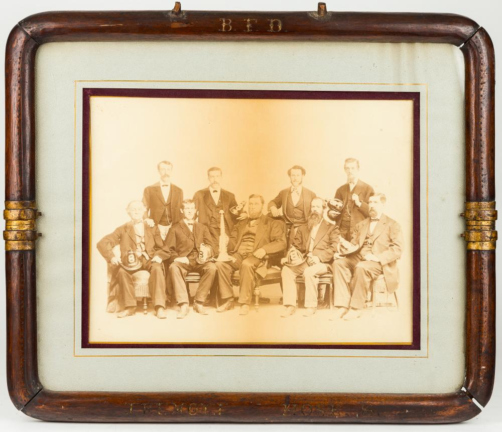B.F.D. Tremont Firefighters Framed Photograph