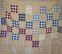 Late 19th Century Hand Stitched Quilt