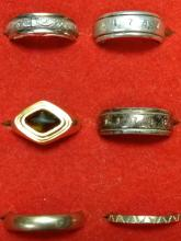 Gold and Sterling Rings