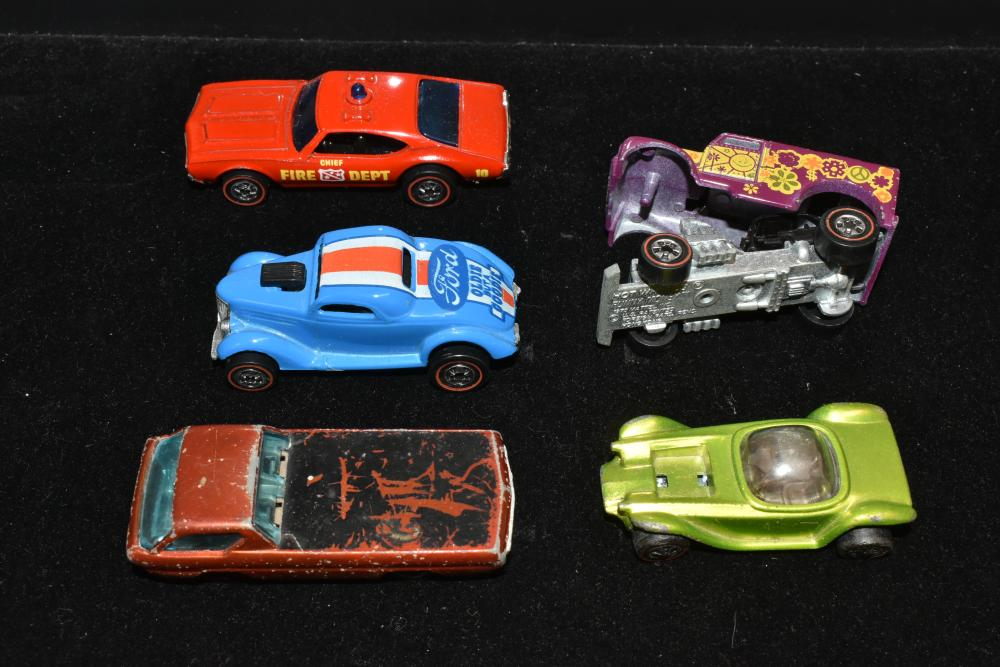 (5) Hot Wheels Red Line Vehicles