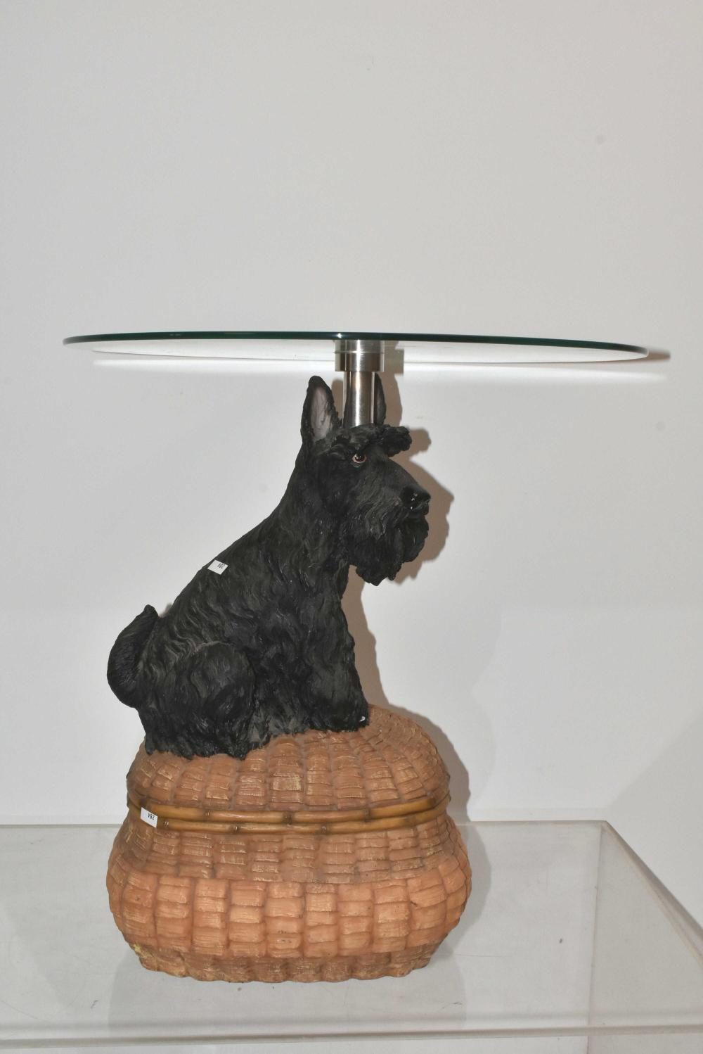 Scotty Dog End Table