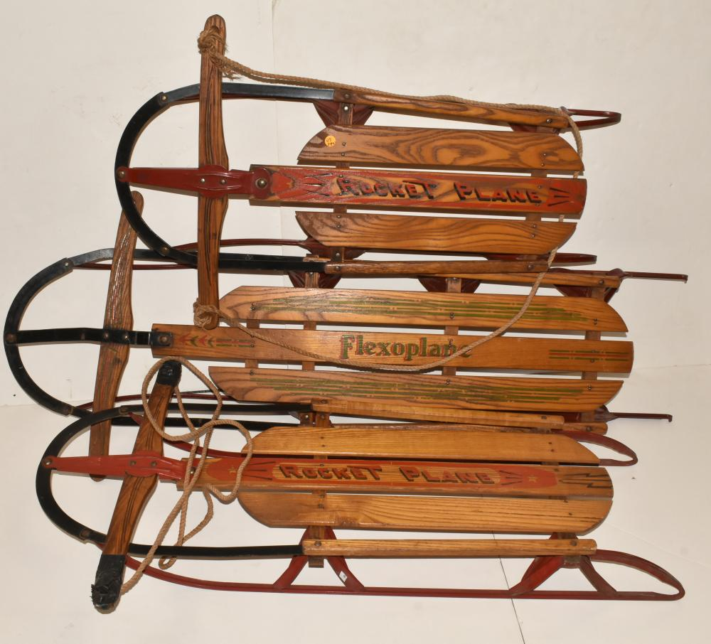 (3) Vintage Sleds