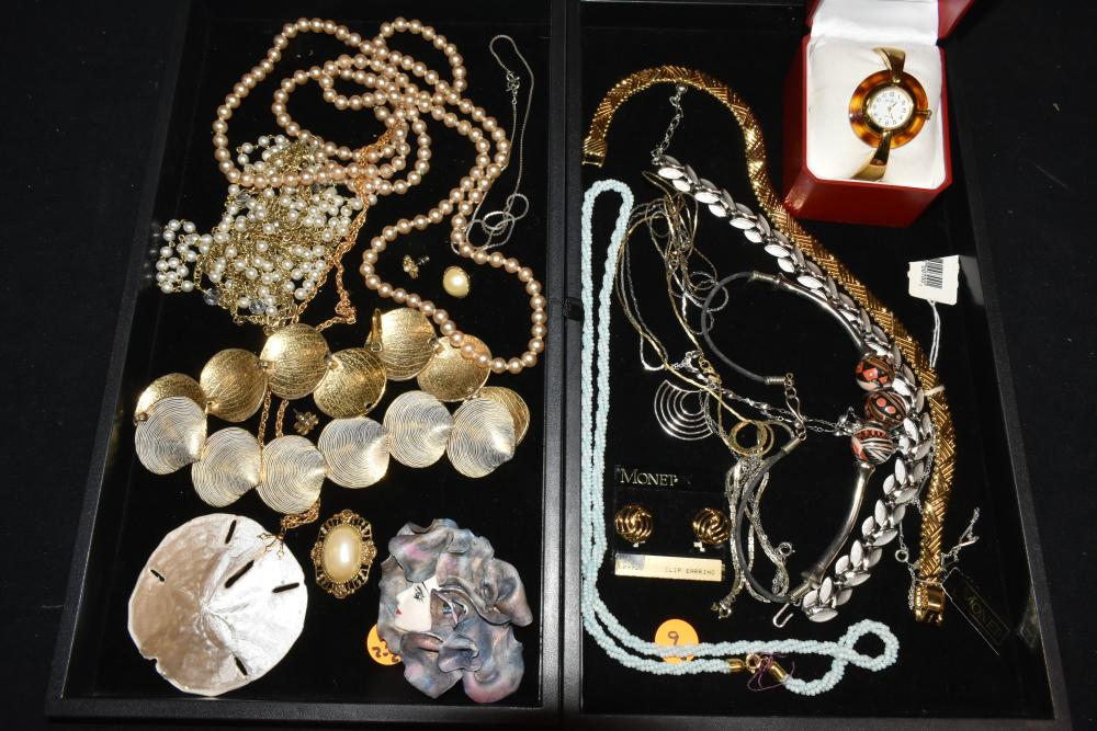 (2) Trays of Mixed Costume Jewelry