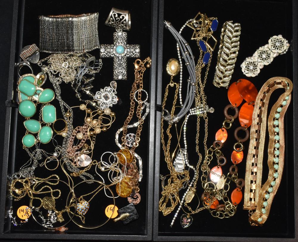 (2) Trays of Costume Jewelry