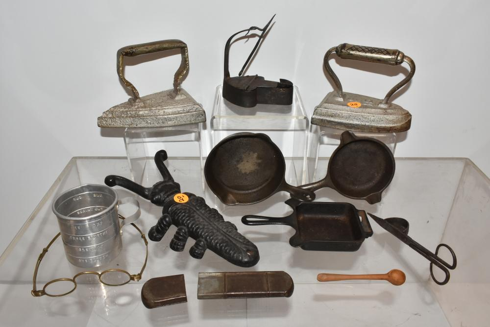 Betty Lamp and Other Country Items