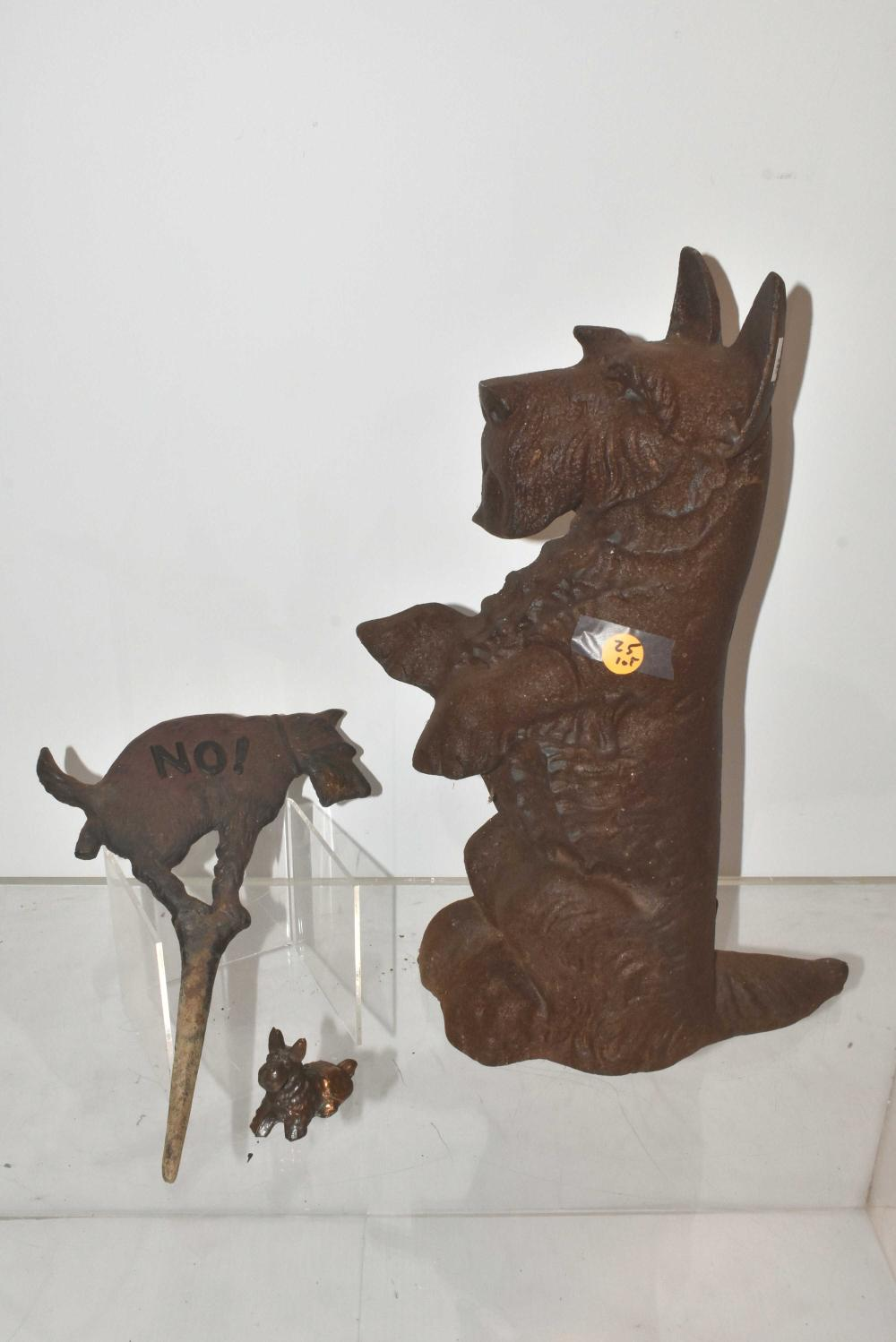 Cast Iron Scotty Dog Doorstop and More