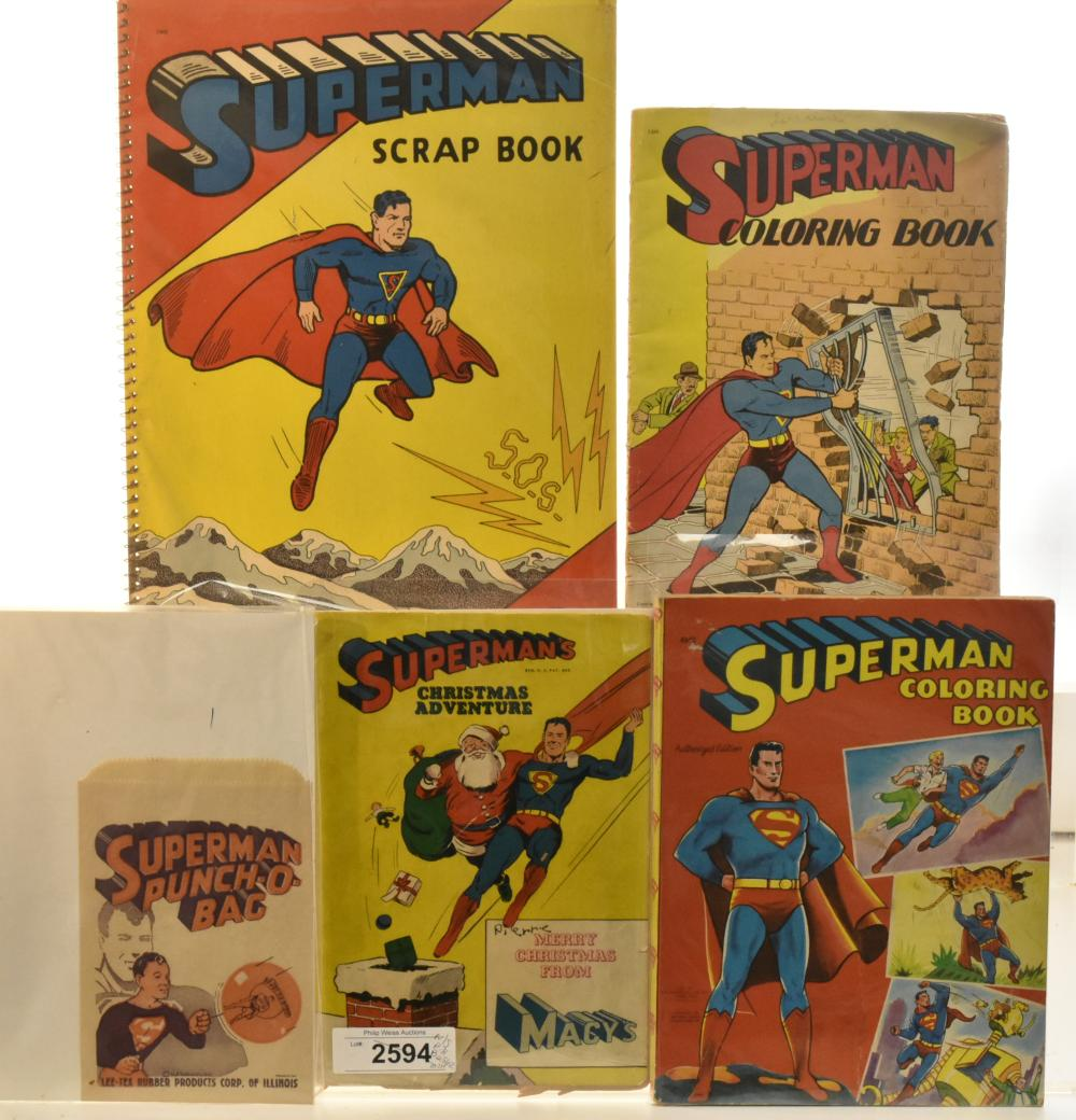 Superman Coloring Books and Related Items