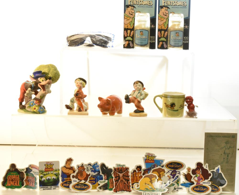 Disney, Flintstones, and Other Items