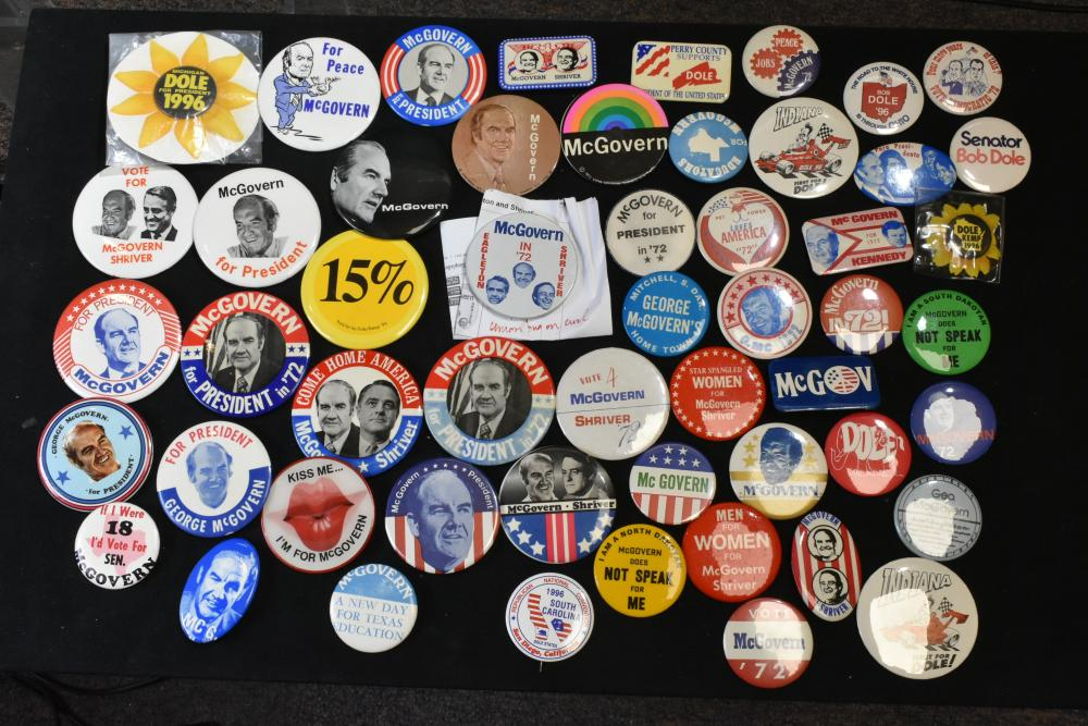 Collection of George McGovern Pin Backs