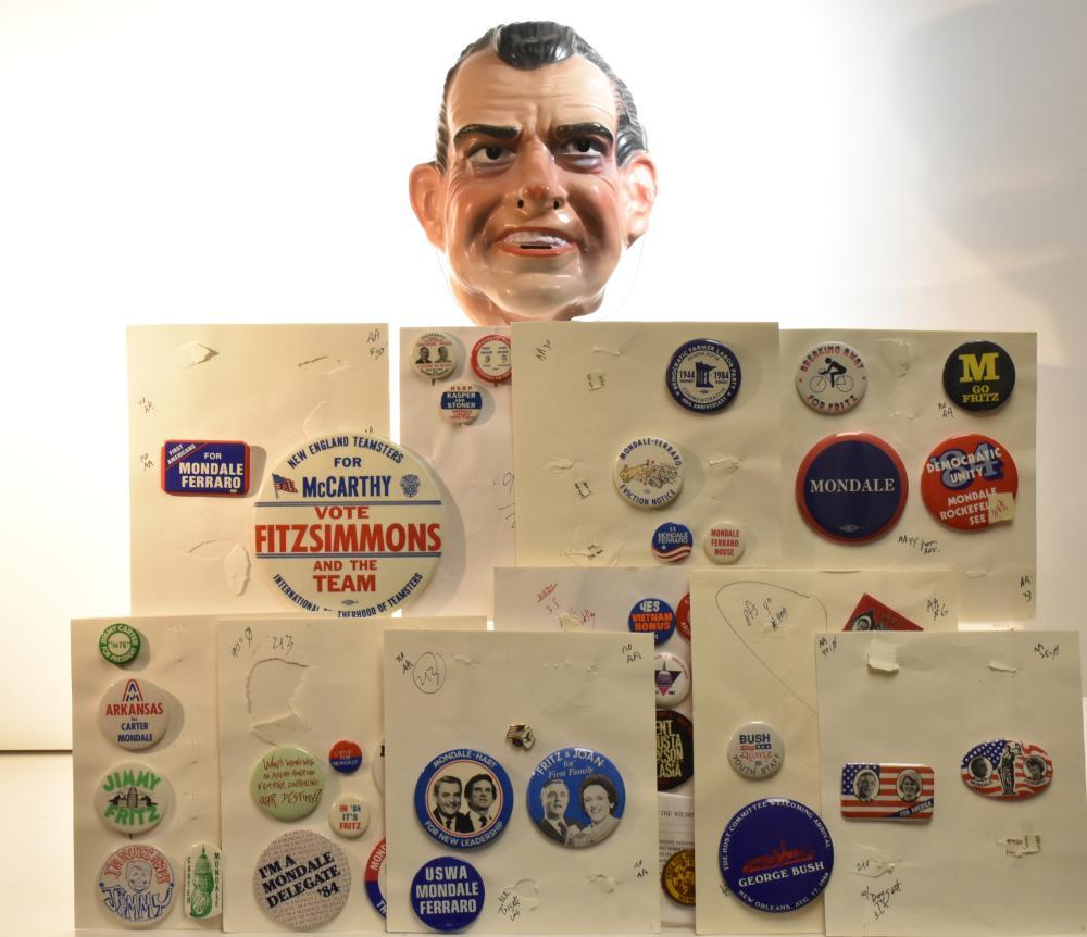 Nixon Mask and Pin Backs