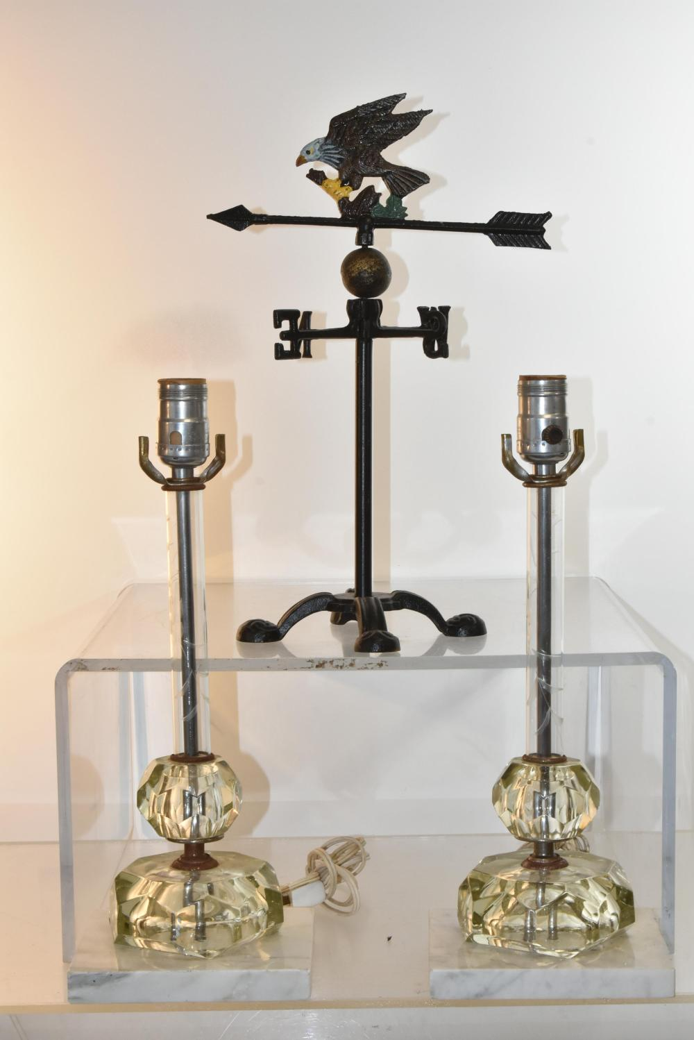 Italian Lamps and a Weather Vane