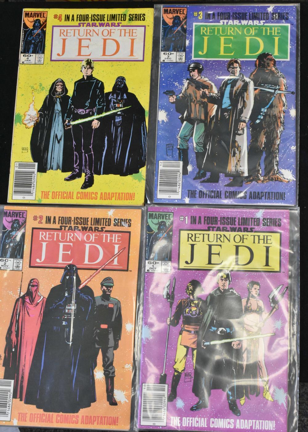 Return of the Jedi 1-4 Comics