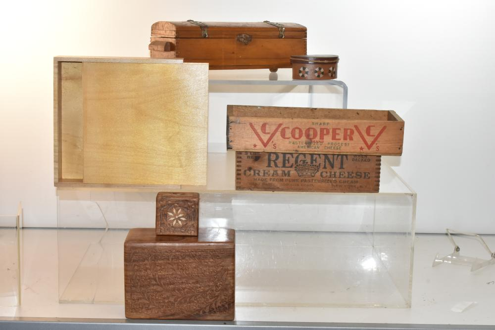 Collection of Cheese and Other Boxes
