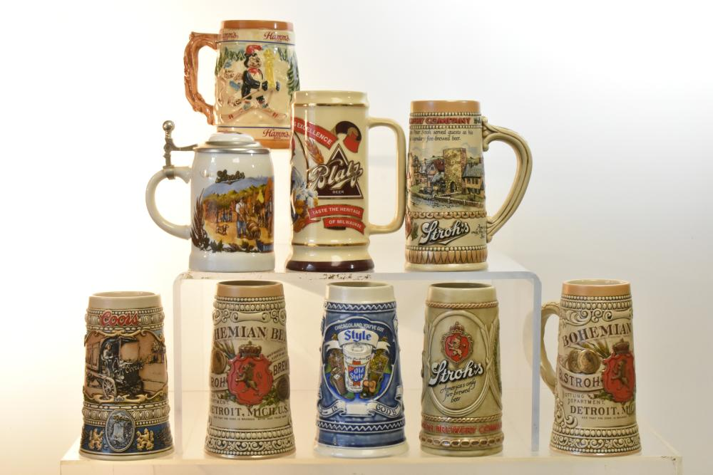 Collection of Advertising Beer Steins