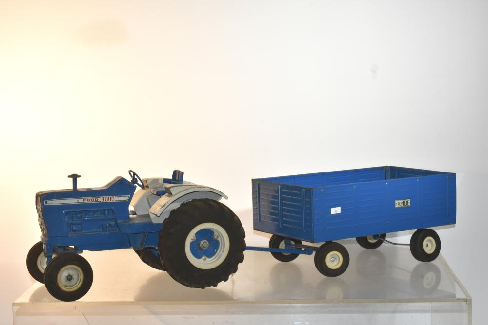 The Big Blue Ford Tractor and Wagon