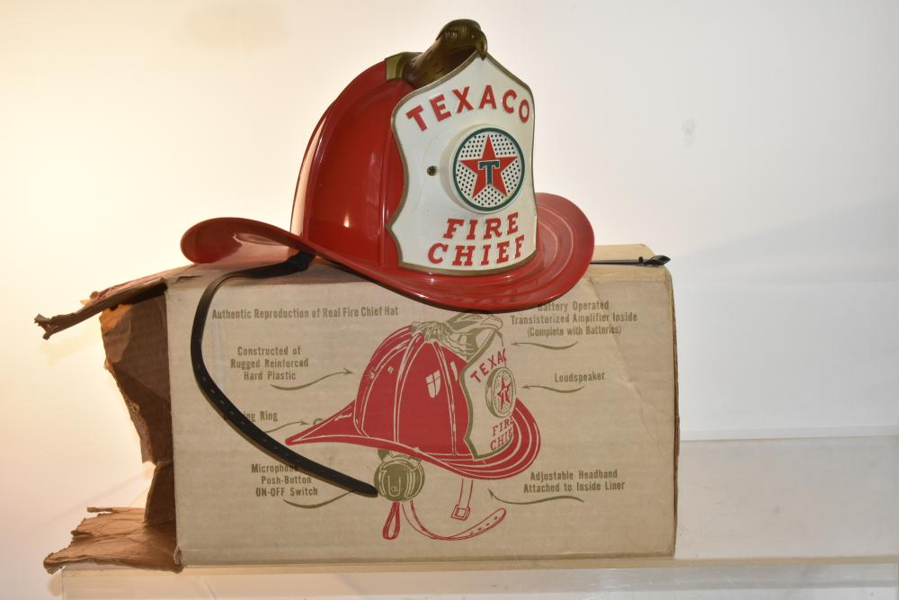 Vintage Texaco Fire Chief Hat With Box