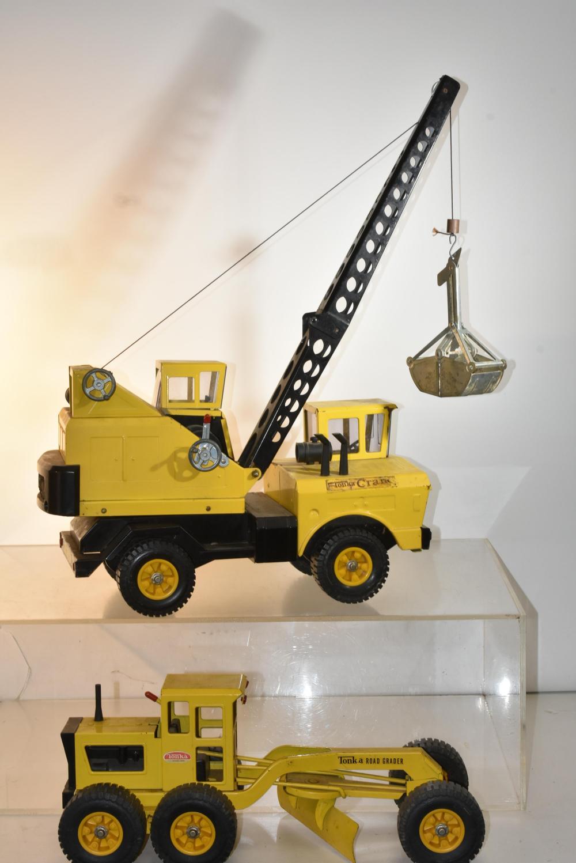 Tonka Road Grader and Crane