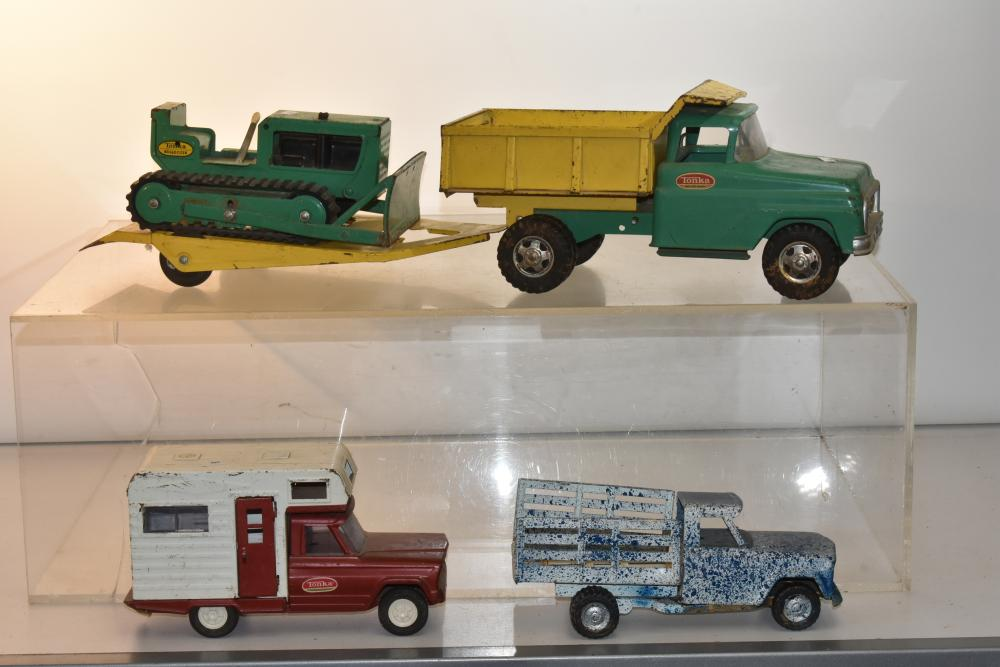 Tonka Dump Truck and Trailer With Rubber Wheels