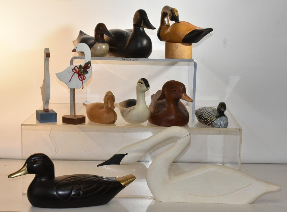 Collection of Wooden Ducks