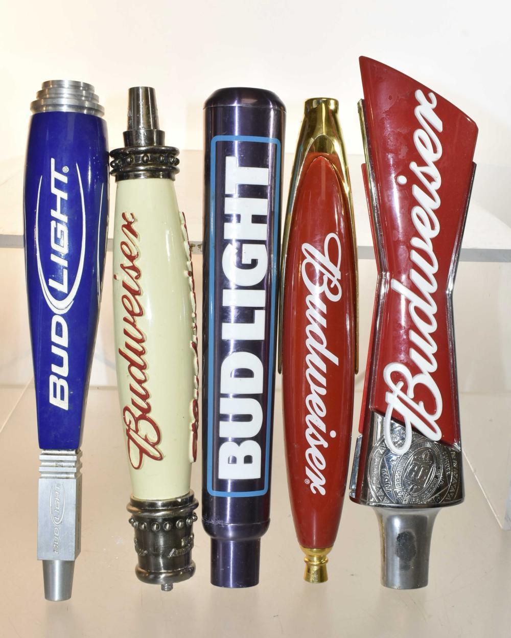 Bud and Bud Light Beer Taps