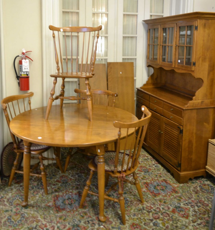 Maple Dining Room Set: Ethan Allen Six Piece Maple Dining Room Set