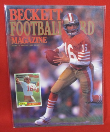 JOE MONTANA of the SAN FRANCISCO 49ERS & PRO FOOTBALL HALL